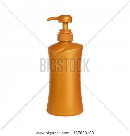 Gel Foam Or Liquid Soap Dispenser Pump Plastic pin on white background.