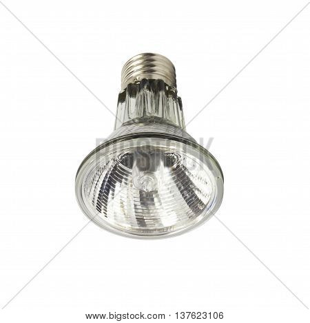 The electricity Halogen bulb on white background
