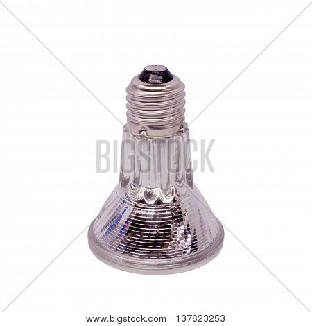 The Halogen bulb on the white background.