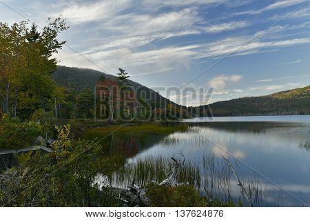 Lake in Acadia National Park Bar Harbor Maine.