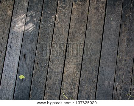 Wooden walkways Dark brown. Tract or connected