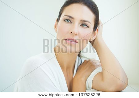 Beautiful Woman At Window