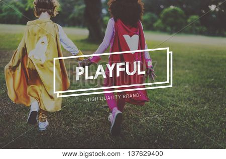 Playful Happy Relaxation Enjoyment Life Concept
