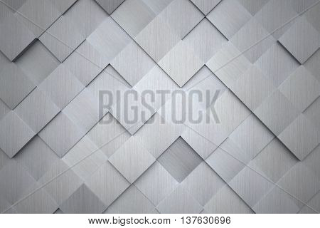 A high tech futuristic aluminum wall as a background