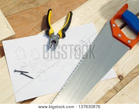 The plan and the tool for starling house construction