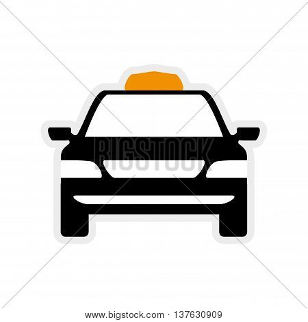 Public service concept represented by taxi car icon. Isolated and flat illustration