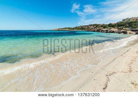 Cala Granu foreshore in Costa Smeralda Sardinia