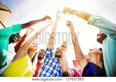 Party Celebrating Celebration Friendship Togetherness Concept