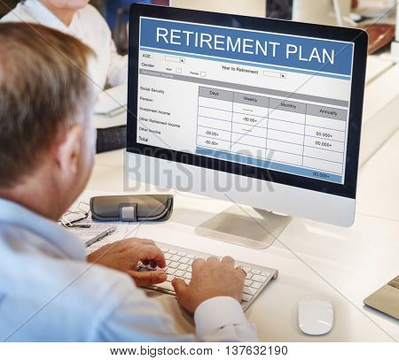 Retirement Plan Wealth Investment Seniority Concept