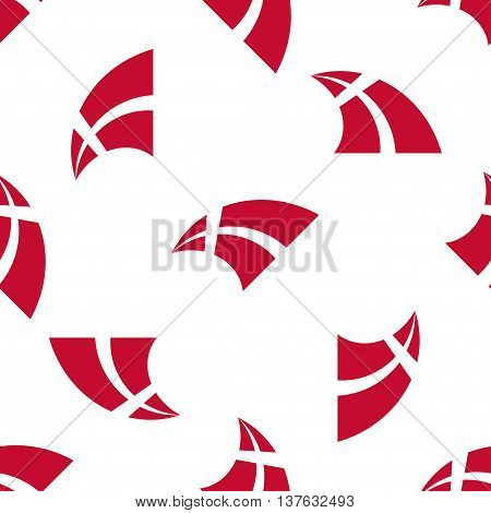 Seamless pattern of stylized flying flags of Denmark. Constitution or National Day flat seamless pattern. Colors of Danish flag. Happy Constitution day of Denmark background.