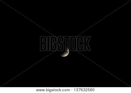 Dark Gray Moon During Eclipse