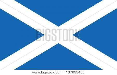 Scotland flag also known as St Andrews Cross or the Saltire. Scotland national flag. Proper Scottish flag vector illustration in EPS8 format.