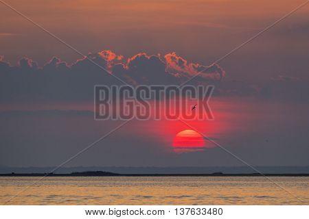 Sunset at Fire Island, USA