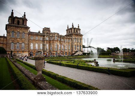 Oxford, United Kingdom - JUNE 19, 2016: Blenheim Palace