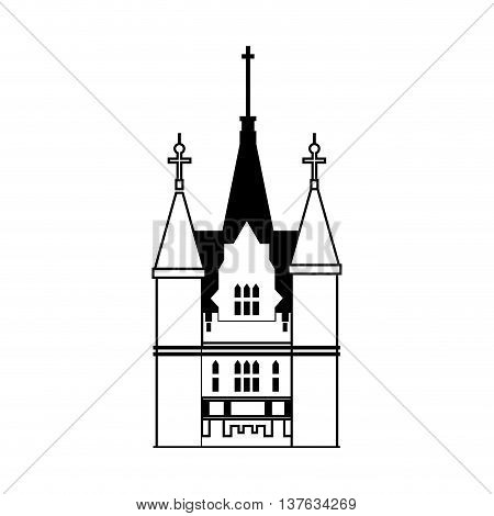 Castle concept represented by palace icon. Isolated and flat illustration