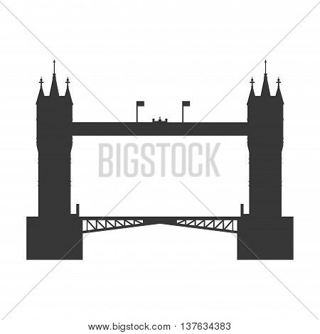 United kingdom concept represented by tower bridge icon. Isolated and flat illustration