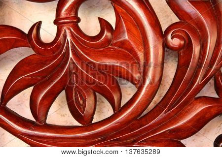 Details of a wooden panel