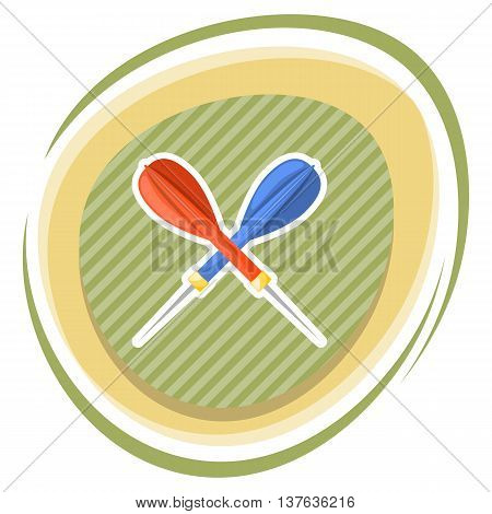 Dart colorful icon. Vector illustration in cartoon style