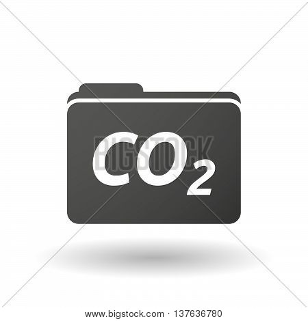 Isolated Folder Icon With    The Text Co2