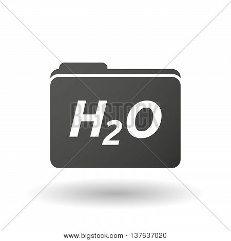 Isolated Folder Icon With    The Text H2O