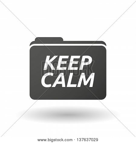 Isolated Folder Icon With    The Text Keep Calm