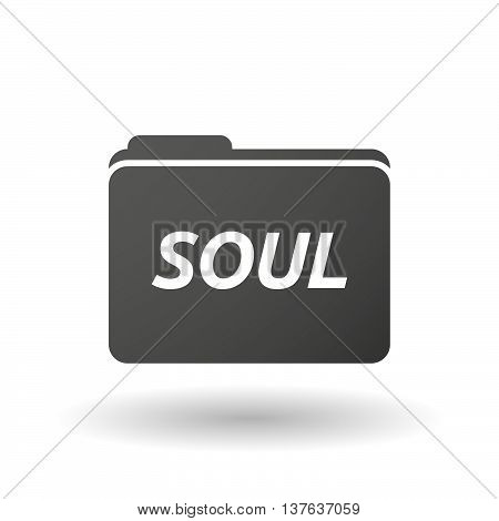 Isolated Folder Icon With    The Text Soul