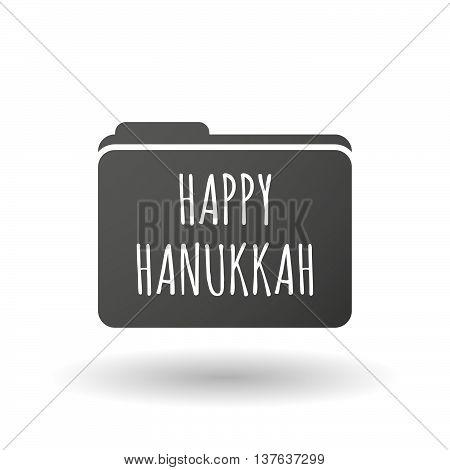 Isolated Folder Icon With    The Text Happy Hanukkah
