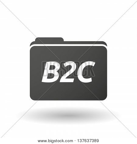 Isolated Folder Icon With    The Text B2C
