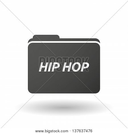 Isolated Folder Icon With    The Text Hip Hop