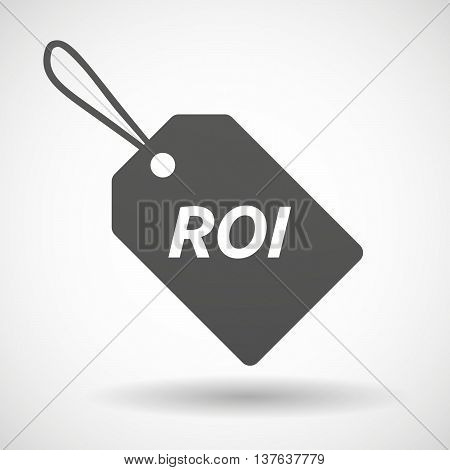 Isolated  Product Label Icon With    The Return Of Investment Acronym Roi