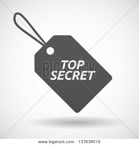 Isolated  Product Label Icon With    The Text Top Secret