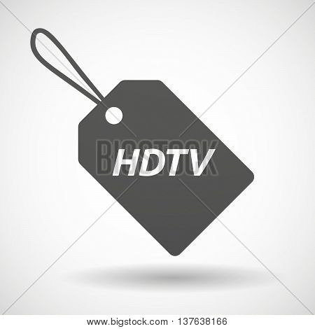 Isolated  Product Label Icon With    The Text Hdtv