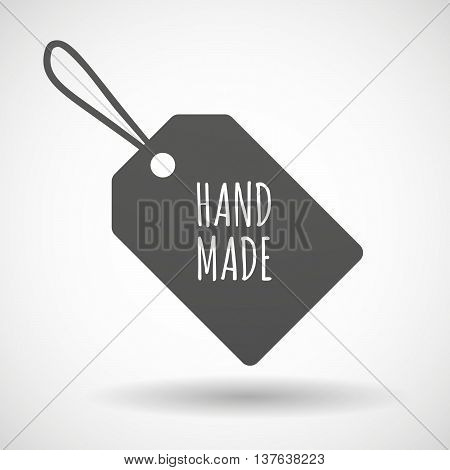 Isolated  Product Label Icon With    The Text Hand Made