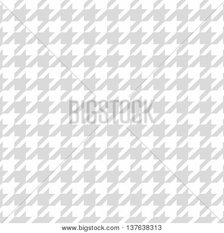 Gray Hounds-tooth transparent pattern vector texture fabric