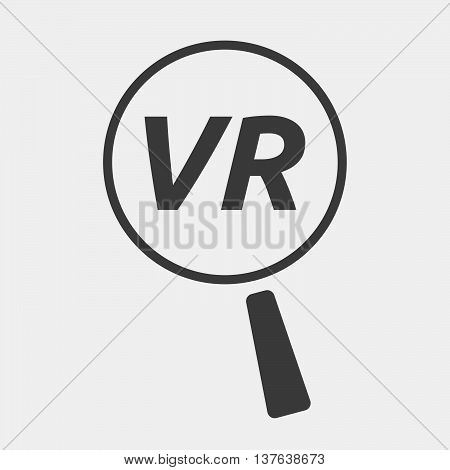 Isolated Magnifying Glass Icon Focusing    The Virtual Reality Acronym Vr