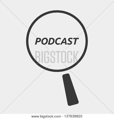 Isolated Magnifying Glass Icon Focusing    The Text Podcast