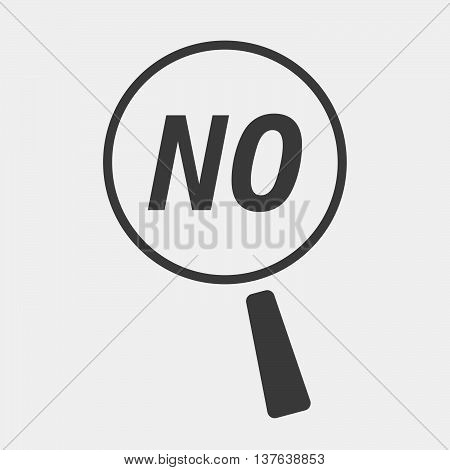 Isolated Magnifying Glass Icon Focusing    The Text No