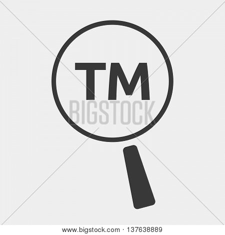 Isolated Magnifying Glass Icon Focusing    The Text Tm