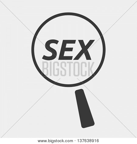 Isolated Magnifying Glass Icon Focusing    The Text Sex