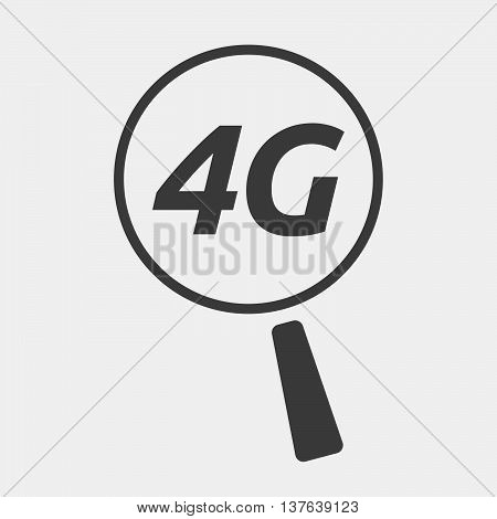 Isolated Magnifying Glass Icon Focusing    The Text 4G