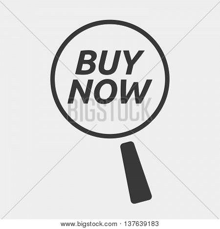 Isolated Magnifying Glass Icon Focusing    The Text Buy Now