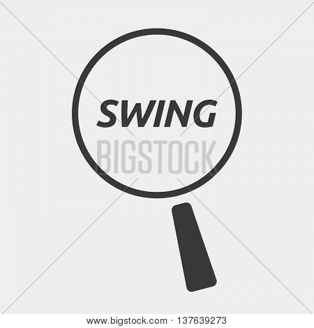 Isolated Magnifying Glass Icon Focusing    The Text Swing