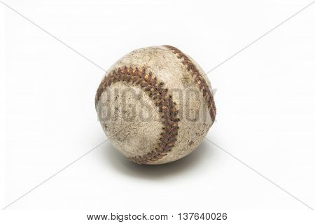 old baseball ball isolated background american game