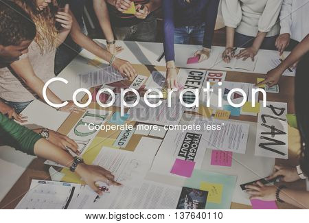 Cooperation Agreement Alliance Company Union Concept