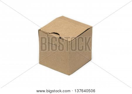 isolated cardboard small box for delivery goods