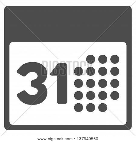 Last Month Date vector icon. Style is flat symbol, gray color, rounded angles, white background.