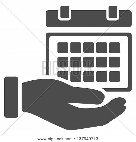 Service Timetable vector icon. Style is flat symbol, gray color, rounded angles, white background.
