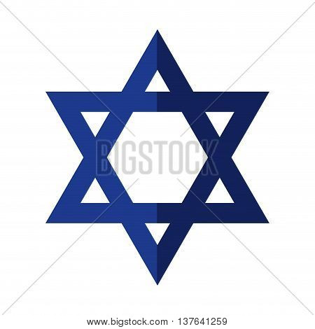 Israel culture concept represented by star icon. Isolated and flat illustration