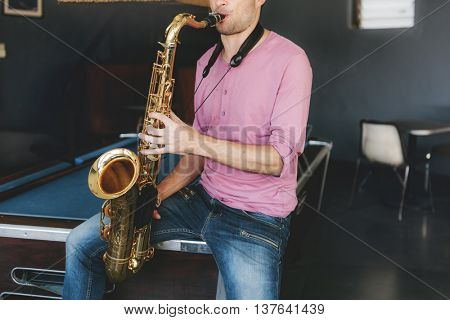 Saxophone Classical Skill Jazz Symphony Music Concept