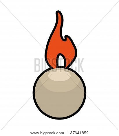 Light concept represented by candle icon. Isolated and flat illustration